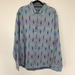 NET Robert Graham 3XL Dress Button Down Shirt
